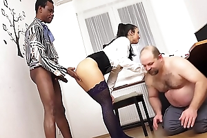 MISTRESS MIRA - XXXL LOAD CUM EATING CUCKOLD IN Put emphasize OFFICE!