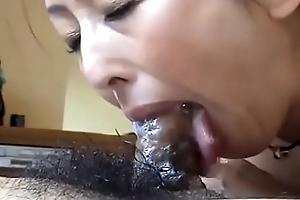 Amateur japanese milf give POV blowjob