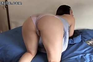 Fullback panty teasing on couch