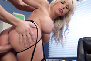 Nina Elle - The boss' Naughty wife gets a load of jizz served in her cunt
