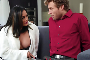 Asian exhale MILF in boots Kaylani Lei gets a huge facial