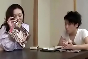 Japanese Asian Mom and Son drunken Constant Fuck