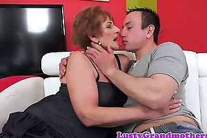 Busty grandma likes getting pounded